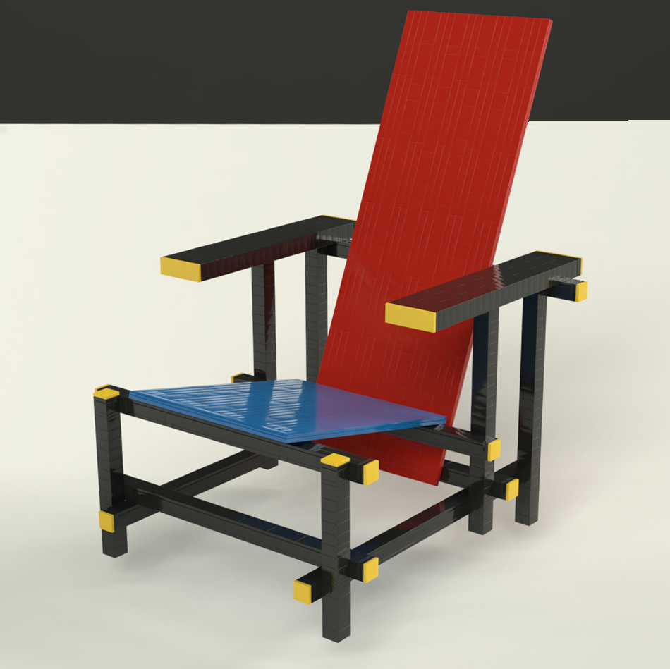 RD725 – Red-Blue chair by Gerrit Rietveld (1919 ...Gerrit Rietveld Chair